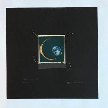 SpaceSnake 70£ / SpaceEclipse (polaroid film)